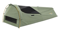 OZtrail Wentworth Single 12oz Canvas Swag with Alloy Poles