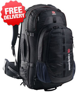 Front view of the Caribee Grand Air 80 Ltr Backpack Travel Back Pack Bag