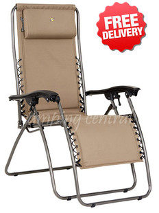 OZtrail Sun Lounge Classic Reclining Pool Arm Chair
