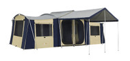 OZtrail Chateau 10 Canvas Cabin Family Tent - (Front View)