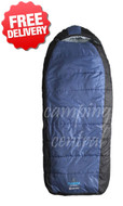 Caribee Tundra -10 Celcius Jumbo Sleeping Bag - (Blue)