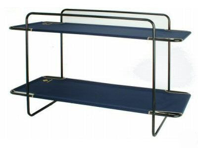 OZtrail Double Bunk Portable Stretcher Camping -  Two Stacked View