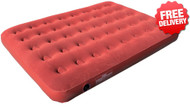 OZtrail Double Inflatable Velour Air Bed Mat Mattress - Angle View