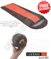 Caribee Plasma Lite +7 Celcius Compact Sleeping Bag - (Color:Red & Black)