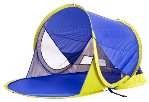 oztrail pop up beach tent sun shade uv shelter blue available at camping central free shipping. Black Bedroom Furniture Sets. Home Design Ideas