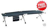 OZtrail Jumbo Aluminium Stretcher Bed - 210x80cm (Angle View)