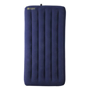 mattress top view. caribee single velour air bed inflatable mattress - (top view) top view