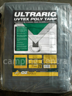 OZtrail UltraRig Tarp Heavy Duty Silver 18 x 9 FT - (Easy to Carry)