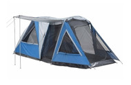 Blue OZtrail Breezeway Family 4 Man Person Tent - (Angle View)