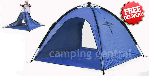 Caribee Beach Tent UV50+ Sun Shelter Pop Up Shade - (Blue)