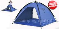 Caribee Beach Tent UV50+ Sun Shelter Pop Up Shade - (Blue)