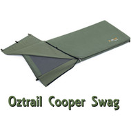 OZtrail Cooper Canvas Swag - High-Density Mattress (Angle View)