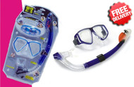 Body Glove Goggle Mask and Snorkel Diving Set