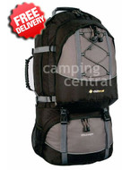 Oztrail Discovery 75 Lt Backpack Travel Pack Hiking Bag - Front View