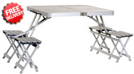 OZtrail Deluxe Camping Picnic Table + Chair Set