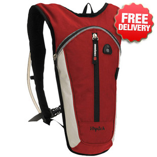 Caribee Hydra 1.5 Ltr Hydration Pack & Bladder - Colour Red
