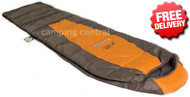 OZtrail Compact 100 Lightweight Sleeping Bag +10 Celcius - (Angle View)