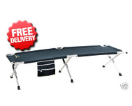 OZtrail Large Aluminium Stretcher Bed - 190x66cm (Front View)