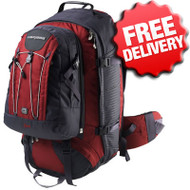 Caribee Lynx 65 Ltr Backpack Travelpack Hiking Bag - Front View