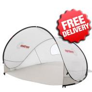 Caribee Pop Up Beach Tent Sun Shade UV Shelter - Light Grey