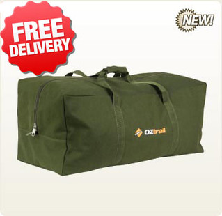 OZtrail Canvas Duffle Luggage Bag X-Large Overnight - With Free Shipping