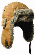 Kakadu Huskie Canvas Hat Leather Trim - (Angle View)
