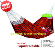 Brazilian Double Cotton Hammock Swing - (Angle View)