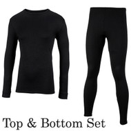 Thermal Polypropylene Underwear - Top & Bottom Long Johns Set