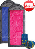 2 x Caribee Genesis Kids Jr Childrens Sleeping Bag - (Front View)