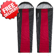 Caribee Plasma Lite +7 Cel. Sleeping Bag - Twin Pack