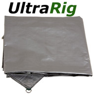 OZtrail UltraRig Tarp Heavy Duty Silver 30 x 24 FT