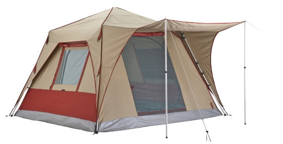 OZtrail Blitz 300 Quick Pitch Canvas Tourer Cabin Tent - Angle View