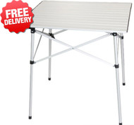 OZtrail Slat Folding Picnic Portable Camping Table - (Angle View)