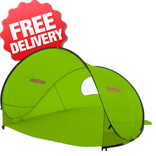 Caribee Pop Up Beach Tent Sun Shade UV Shelter - (Green)