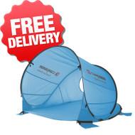 Caribee Pop Up Beach Tent Sun Shade UV Shelter - Blue