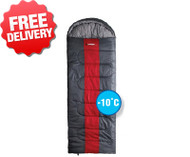 Caribee Snow Drift -10 Celcius Jumbo Sleeping Bag - (Top View)