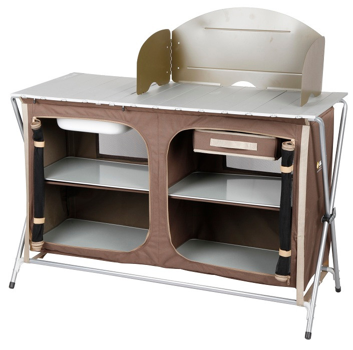 Oztrail Camping Camp Kitchen Deluxe Sink Table Available At A Great Price From Camping Central