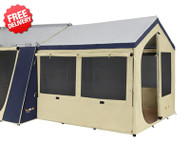 OZtrail Cabin Tent Sunroom - Polyester (Side View)