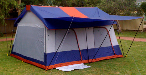 OZtrail 14x12 ft Vacation Home Cabin Tent - (Angle View)