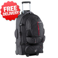 Caribee Sky Master 80 Wheeled Back Pack Luggage Bag - (Front View)