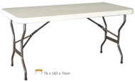OZtrail Lifetime Table 6ft Folding Bench Desk Picnic - (Angle View)