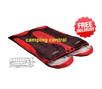 Caribee Genesis Duo +7 C. Twin Double Sleeping Bag - With Free Shipping