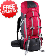 Caribee Tahoe 65 Lt Rucksack Backpack Travel Pack Bag - With Free Shipping