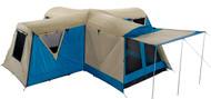 OZtrail Pacific Cross Family Dome Tent (Sleeps 15)