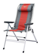 OZtrail Cascade 8 Folding Camping Picnic Arm Deck Pool Chair - Colour Red