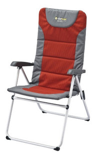 OZtrail Cascade 5 folding Camping Picnic Arm Deck Pool Chair - Colour Red