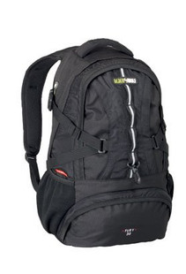Black Wolf Fury 30 Litre Backpack Daypack (Black) - Front View
