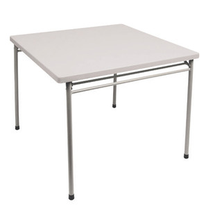 Coleman Plastic Top (84x84x71cm) Card Table Folding Picnic Portable Camping - Angle View