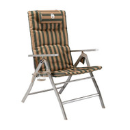 Coleman 5 Position Padded Chair (Steel Arm) Folding Portable Camping Picnic - Free Shipping