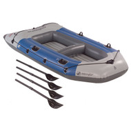 Sevylor Colossus 4 Person Inflatable Boat With Oars